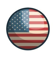 Usa flag button symbol vector