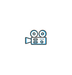 video camera icon design photography and video vector image