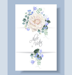 Vintage floral wedding card with rose vector