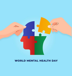World mental health day concept poster background vector