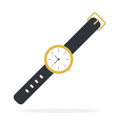 wrist mechanical watch flat isolated vector image