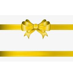 Yellow ribbon and bow vector