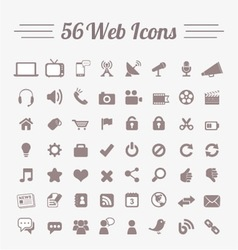 56 Web Icons vector image vector image