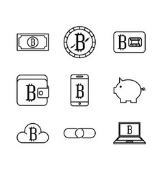 bitcoin virtual coin design vector image