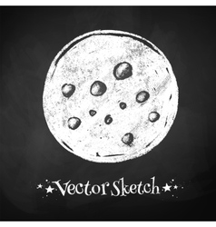 Chalkboard drawing of moon vector image vector image