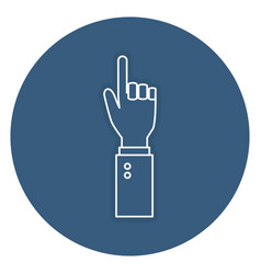 Hand human index isolated icon vector