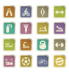 sport equipment icons set vector image
