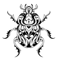 tribal style bug tattoo vector image vector image