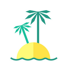 coloured summer of an island vector image