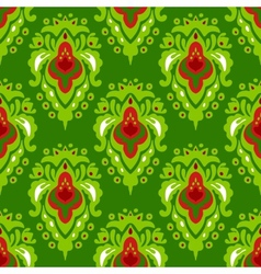 Damask plant seamless pattern vector image