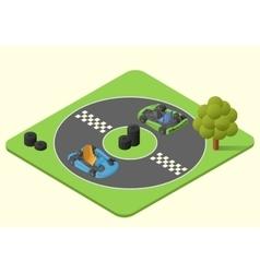 kart sport car vector image