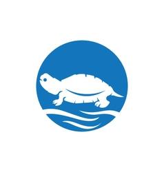 Turtle logo icon vector