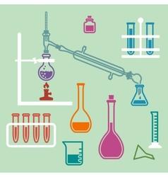 Chemistry lab equipment vector image