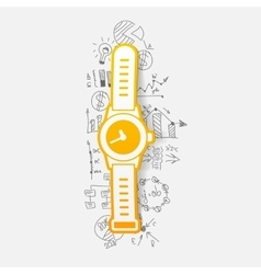 Drawing business formulas watch vector image