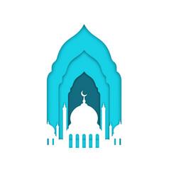 eid mubarak ramadan kareem islamic greeting card vector image
