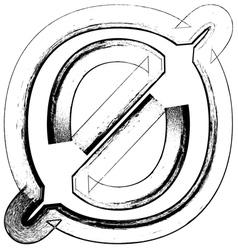 Grunge Font number 0 vector image vector image