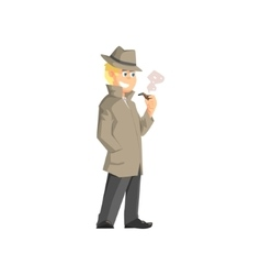 Male Private Detective vector image vector image