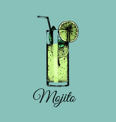 mojito glass isolated of vector image