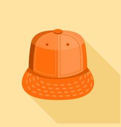 orange cap icon flat style vector image