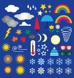 weather icons clipart vector image vector image