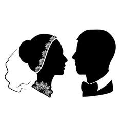 wedding silhouette 11 vector image