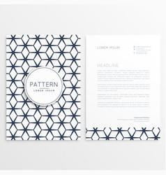 Business letterhead template poster vector