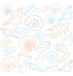 Colorful Seashells vector image vector image