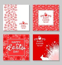 Easter card4 set vector
