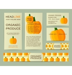 Farm Fresh business corporate identity design with vector image vector image