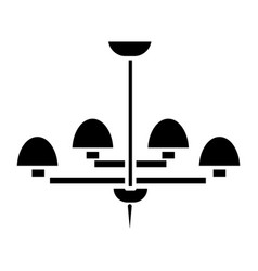 light lamp ceiling bra icon vector image vector image