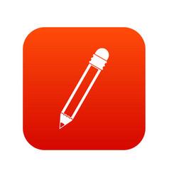 pencil with eraser icon digital red vector image