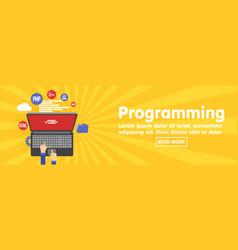 programming and coding website development banner vector image