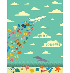 Travel poster Vintage style design vector image