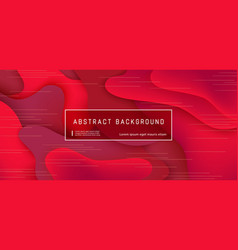 abstract background wave motion flow red vector image