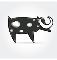 Abstract cow icon isolated on white background vector image