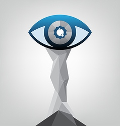 Abstract eye trophy design vector