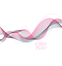 abstract soft waves vector image