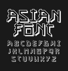 Asian style font vector