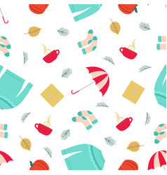autumn pattern with sweater vector image
