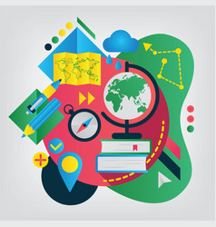 Back to school concept geography vector