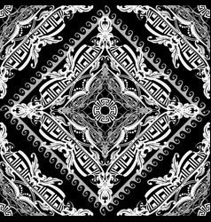 baroque style modern greek seamless pattern black vector image