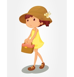 Basket girl vector