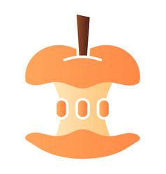 Bitten apple flat icon apple core color icons vector