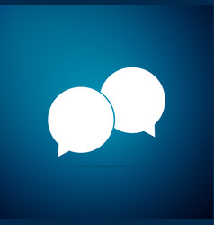 blank speech bubbles icon on blue background vector image
