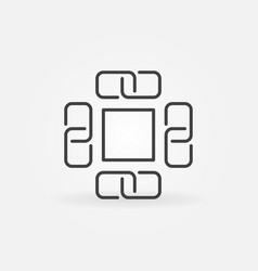 block chain concept icon or symbol vector image
