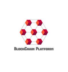 blockchain platform concept symbol vector image