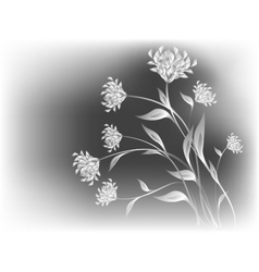 Bouquet of wild flowers on a grey base EPS10 vector