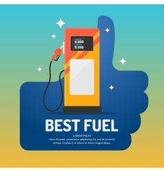 Bright advertising poster on theme gas vector