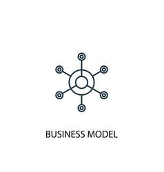 Business model concept line icon simple element vector