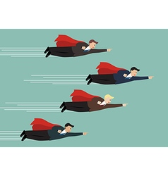 Businessman superhero fly competition vector